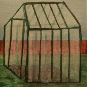 painting titled Greenhouse III