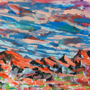 painting titled Mountains (study)