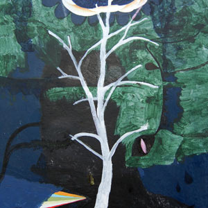 painting titled Ghost Tree