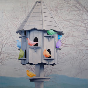 painting titled The Dovecote