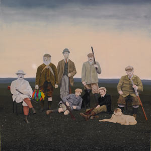 painting titled The Hunters