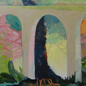 painting titled Viaduct